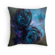 The Rose Bunch with a modern twist - Photo by Jacqueline Cooper - Flower or nature lover? Add a little wow factor to any room decor with this up close modern view of roses decorative throw pillow. It's available for purchase at REDBUBBLE as a pillow, print and on many other great products. Makes great gifts. Just click on the link below! It's bound to be a hit!