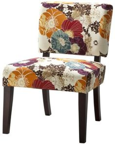 Vale Open Back Slipper Accent Chair - Floral Graffiti