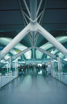 Kansai International Airport was designed to function as a vast machine, transporting people from train or hydrofoil to planes and back again.