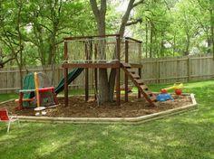 Creative Ideas Outdoor Playground Backyard Landscaping Playground Backyard Landscaping Diy Playground Project Ideas For Backyard Landscaping 5 Backyard For Kids, Backyard Projects, Outdoor Projects, Backyard Ideas, Diy Playground, Playground Design, Natural Playground, Tree House Playground, Playground Flooring