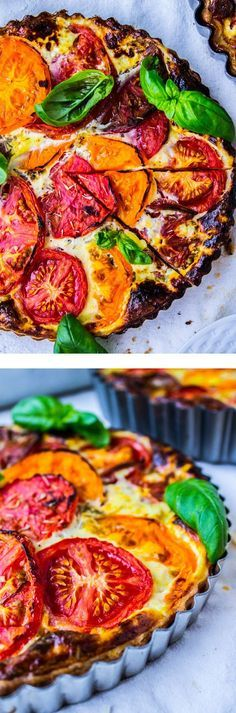 Tomato Tart with Blue Cheese from The Food Charlatan // The perfect ratio of buttery crust to quiche-like filling. Tasty way to use up summer heirlooms for breakfast brunch or dinner!