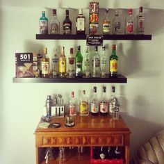 Collecting bottle and memory that live with friends, at least my mini bar launched. Heil Cocktails ☺
