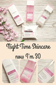 Night Time Skincare Routine for 30 year old women. Beauty tips for how to keep your skin clear, how to look younger, the best skincare for ladies over 30 Skin Toner, Oily Skin, Sensitive Skin, Skin Care Regimen, Skin Care Tips, Skin Tips, Anti Aging, Loreal Skin, Skin Care Routine For 20s