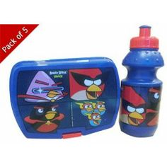 Angry Bird Advance Lunch Box & Water Bottle Set (Pack of 5)