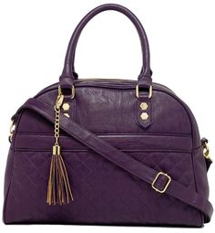 Plum cross body bag