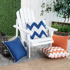 Coral Coast Valencia Outdoor Toss Pillow - 18 x 18 in.