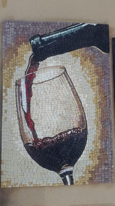 Handmade tile mosaic art composed of natural marble that is guaranteed to transform your space. Mosaicist: Haith D. Mosaic Tile Art, Mosaic Artwork, Mosaic Crafts, Mosaic Projects, Stained Glass Projects, Mosaic Glass, Glass Art, Mosaics, Mosaic Designs