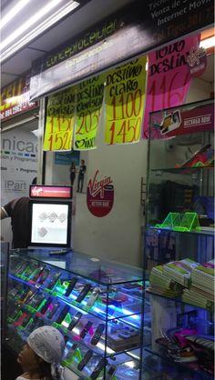 Little fridges to promote sim card sales.
