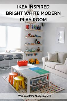 IKEA INSPIRED BRIGHT WHITE MODERN PLAY ROOM - Simply Every