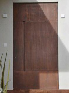 Fabricamos qualquer tipo de produto em aço CORTEN, Escapas, Portas, Portões, Fachadas em aço Patinavel CORTEN