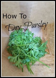 Preserving Parsley Fresh from your Garden Preserving fresh herbs can sometimes be tricky, but drying parsley is soooo easy. If you use parsley a lot in your cooking, you will love this tip showing you how to dry parsley. it will help you to have home-gr Herb Garden Design, Herbs Garden, Herb Gardening, Garden Ideas, Herb Plants, Bucket Gardening, Urban Gardening, Fruit Garden, Garden Pests