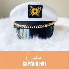 .  Say goodbye to the boring old captain hats...& say hello to these new and improved captain hats! These captain hats will give you & your crew that sexy captain look when you wear them adding alot of fun to your nautical bachelorette party!. . . .