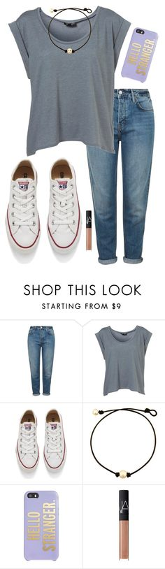 """""""#tgif"""" by sharon-sw ❤ liked on Polyvore featuring Topshop, Converse, Kate Spade and NARS Cosmetics"""