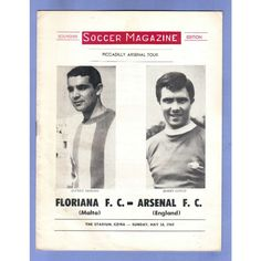 Floriana v Arsenal 1968/1969 Piccadilly Tour Football Programme Listing in the Friendly & Pre-Season Fixtures,English Leagues,Football (Soccer),Sports Programmes,Sport Memorabilia & Cards Category on eBid United Kingdom | 148650756