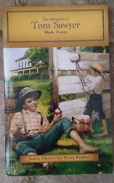 The Adventures of Tom Sawyer by Mark Twain paperback book