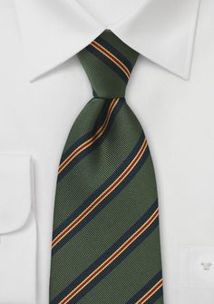 e28804dea65c Regimental Striped Tie in Green and Blue - ties shop - traditional stripes