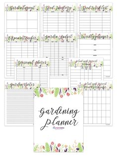 Garden Planner – Sunny Home Creations Love Garden, Summer Garden, Printable Planner, Free Printables, Free Garden Planner, Garden Organization, Garden Journal, Planning And Organizing, Handmade Books