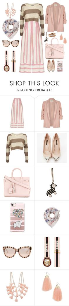 """""""Senza titolo #6987"""" by waikiki24 ❤ liked on Polyvore featuring Vilshenko, River Island, Pilot, Louis Vuitton, Yves Saint Laurent, Tory Burch, Casetify, Gucci, Design Lab and Panacea"""