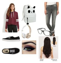 """School day :\"" by andsew on Polyvore featuring Forever 21, Diesel, Vans, Ardell and LeSalon"