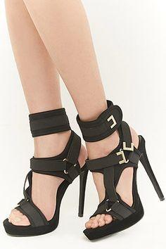 bf5bba452110 Shoe Republic Strappy Stiletto Heels