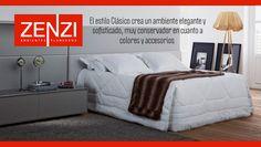 El estilo Clásico crea un ambiente elegante y sofisticado, muy conservador en cuanto a colores y accesorios. Ver ambientes www.zenzi.com.co