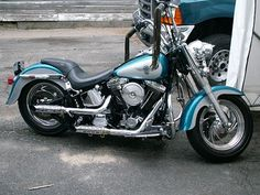 1995 harley davidson fat boy motorcycle - ape hangers | Flickr - Photo Sharing!