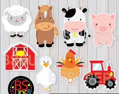 Farm Animals Centerpiece Instant Download PDF por Astudio4U en Etsy