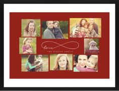 Love Infinity Framed Print, Black, Contemporary, Cream, White, Single piece, 24 x 36 inches, Red