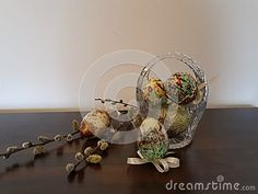 Easter eggs and willow branch on wood. In a crazy world, in which we all suspend our time into an eternal `later`, there are small but so beneficial things to the soul. Willow Branches, Easter Eggs, Backgrounds, Vibrant, Wood, Painting, Image, Woodwind Instrument, Timber Wood