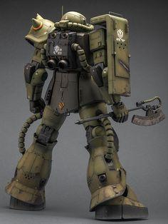 GUNDAM GUY: Mega Size 1/48 Zaku II Mass Production - Customized Build
