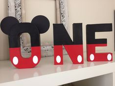 Excited to share this item from my shop: Mickey ONE letters , paper mache photo props Mickey Mouse themed birthday letters , paper mache Mickey 1st Birthdays, Mickey Mouse First Birthday, Mickey Mouse Clubhouse Birthday Party, 1st Boy Birthday, 1st Birthday Parties, Birthday Letters, Birthday Ideas, Mickey Mouse Letters, Mickey Y Minnie
