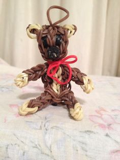 TEDDY BEAR for Rainbow Loom. On Rainbow Loom FB page.