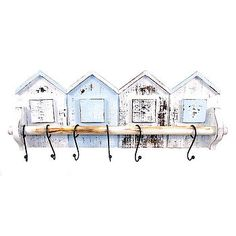 beach hut hooks by Lindsay Interiors
