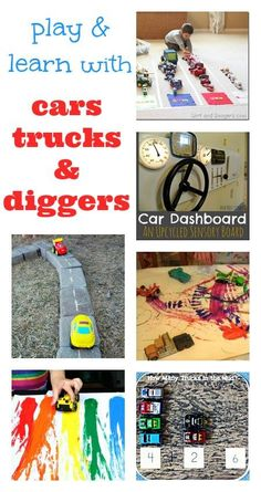 Super transport themed activities - for kids who love cars and trucks and diggers!
