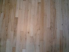 red oak from the sanded. bleached and finished with Bona Traffic HD in Commercial Extra Ma. Red Oak Floors, Hardwood Floors, Polyurethane Floors, Painted Floors, Kitchen Flooring, Living Room Designs, Craftsman, Sweet Home, Flooring Ideas