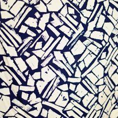 Image of Random Shapes Silk Crepe de Chine