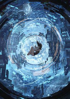 Commission: Terranis V by VincentiusMatthew on DeviantArt Fantasy Art Landscapes, Fantasy Landscape, Fantasy Artwork, Art And Illustration, Cyberpunk Kunst, Fantasy Kunst, O Pokemon, Anime Scenery Wallpaper, Fantastic Art