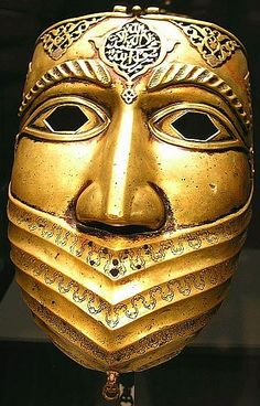 Amir could wear this Arabian war mask on his face to represent his traditional attributes, and also his desire to go to war back in Araby, but I would only want half of his face covered by this so that the other side of his face can symbolise his westernised side, that wants to find Ashgirl and say in the new land that they are in.