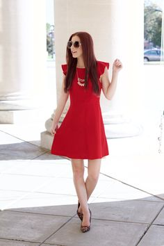 Little Red: Why You Need a Ruffled Party Dress // She Saw Style