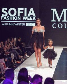 Myoo Couture Fall Winter || 17  Mama & Kid couture black gown