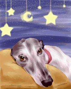 Sleepy Greyhound, by B. Rubenacker, Michigan