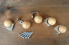 5 Möbelgriffe Metall/Holz Möbelknopf Möbelknauf Griff Knauf Möbelgriff