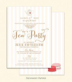 bridal shower Invitation  tea party invitation by FreshmintPaperie, $19.50
