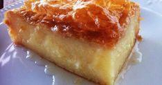 Traditional Greek Galaktoboureko recipe (Greek Custard Pie with Syrup) the BEST greek dessert ! Custard Pie Recipe Easy, Just Desserts, Delicious Desserts, Greek Sweets, Kolaci I Torte, Greek Cooking, Greek Dishes, Greek Recipes, Greek Dessert Recipes