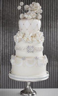 Jeweled Wedding Cake (pricing like a pro)