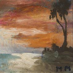 Mauno Markkula, öljy, 23x24 cm - Hagelstam A142