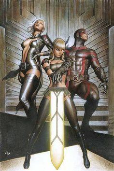 Uncanny X-Men - Magik, Emma Frost, and Cyclops by Adi Granov