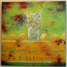 """""""It'll cost nothing to dream & everything not to."""" Inspirational artwork in Ole South's beautiful Model Home kitchen in Belmont.  www.olesouth.com/Belmont"""
