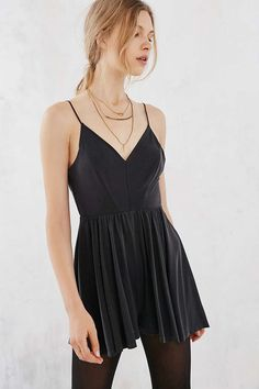 Silence + Noise - Combishort Vanessa noir - Urban Outfitters