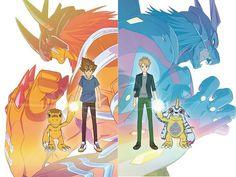 Otaku Anime, Anime Manga, Anime Art, Pokemon Super, Cool Pokemon, Shining Tears, Digimon Wallpaper, Digimon Tamers, Digimon Frontier
